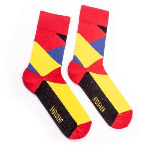 """Цветные носки с цветным орнаментом """"Геометрия"""""""