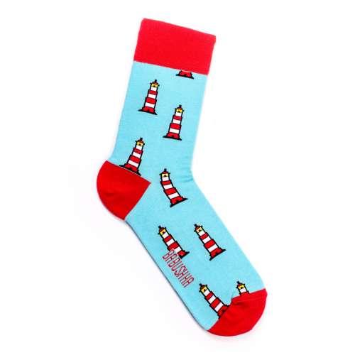 """Яркие носки с цветным рисунком """"маяки"""""""
