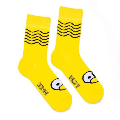 Жёлтые носки с глазами G28