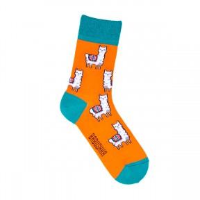 Цветные носки с ламами G31
