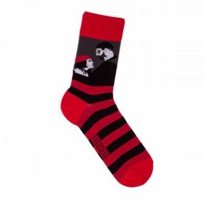 Красно-чёрные носки Леон G29
