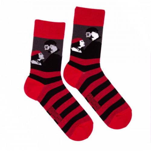 Крано-черные носки Леон Babushka женские G29