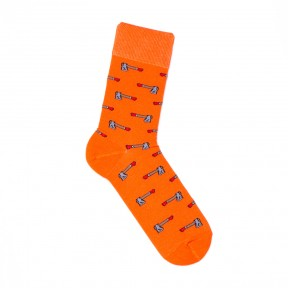 Оранжевые носки с топорами M26