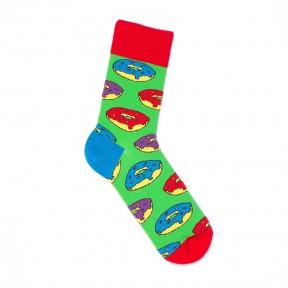 Зеленые носки с пончиками M27