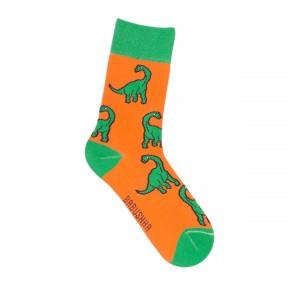 Оранжевые носки Динозавры M/G41