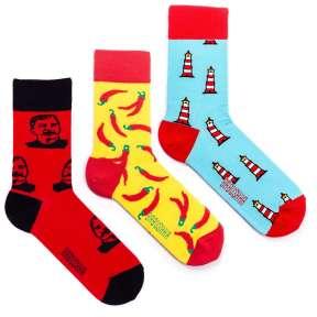 3 пары, набор цветных носков CM-10