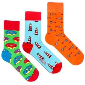 3 пары, набор цветных носков CM-14
