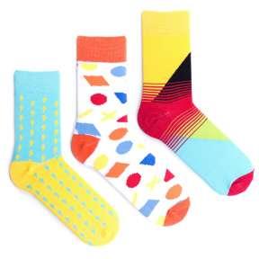 3 пары, набор цветных носков CM-4