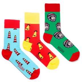 3 пары, набор цветных носков CM-5