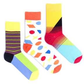 3 пары, набор цветных носков CM-7
