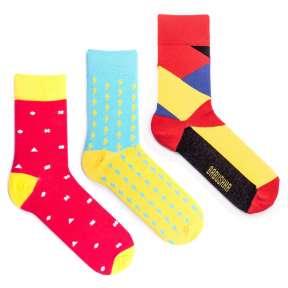 3 пары, набор цветных носков CM-8