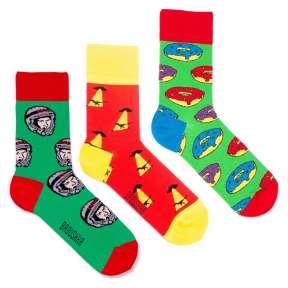 3 пары, набор цветных носков CM-9