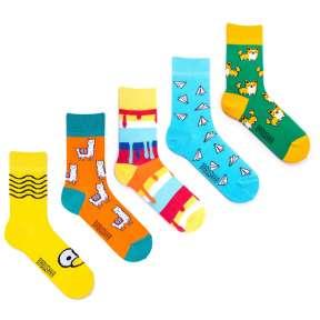 5 пар, набор цветных носков VG-10