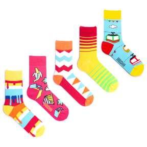 5 пар, набор цветных носков VG-8