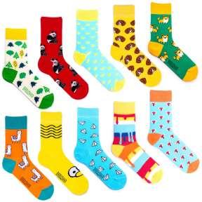 10 пар, набор цветных носков XG-2
