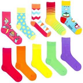 10 пар, набор цветных носков XG-3