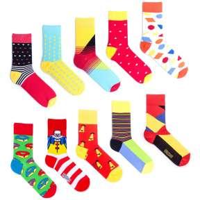 10 пар, набор цветных носков XM-3