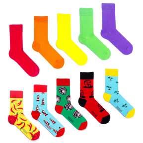 10 пар, набор цветных носков XM-4