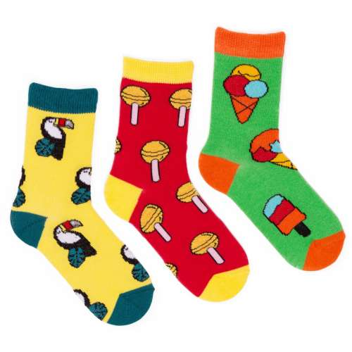 Набор детских ярких носков, 3 пары