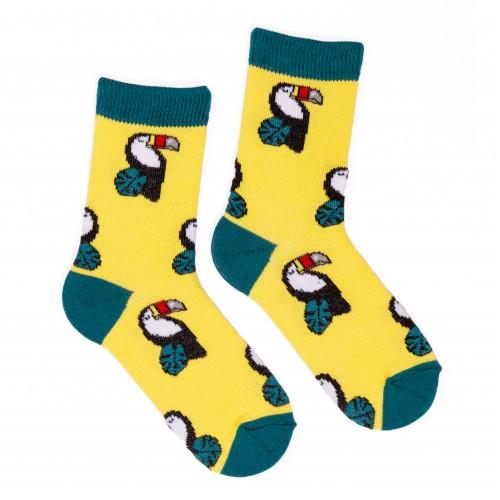 Детские цветные носки с туканом