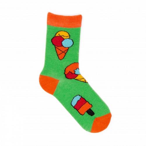 Детские яркие носки с мороженым