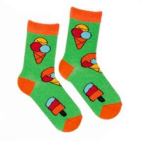 Детские яркие носки с мороженым Д8