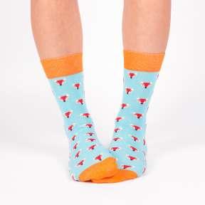Цветные носки с лисичками G12