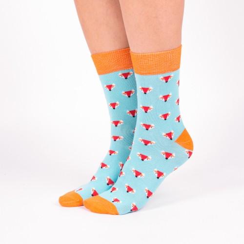 Цветные носки с лисичками Babushka G12