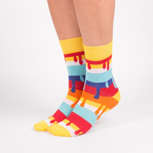 Цветные дизайнерские носки с потеками