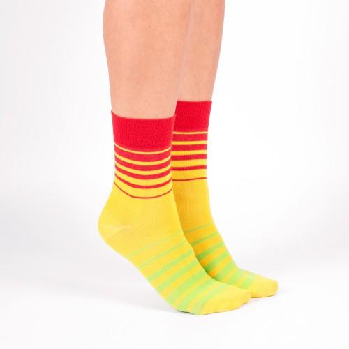 """Желто-красно-зеленые носки носки Babushka """"Ямайка"""""""