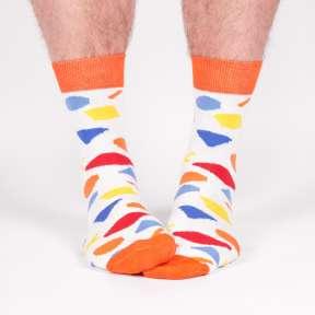 """Цветные носки с геометрическими фигурами """"Лиссабон"""" M12"""