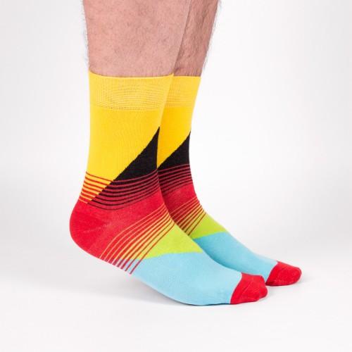 """Прикольные носки с цветным орнаментом """"Берген"""""""