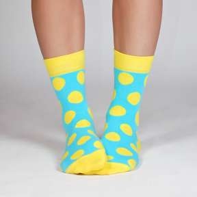 """Яркие женские носки с кругами """"Рейкьявик"""" G1"""