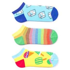 3 пары, набор коротких цветных носков 3GK1