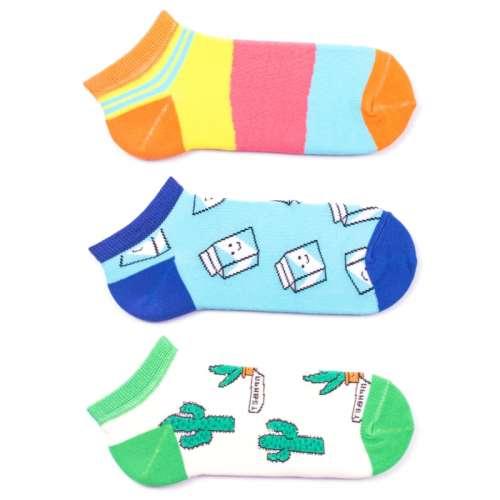 Набор коротких цветных носков