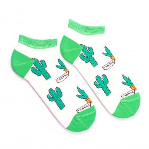 Цветные носки с кактусами