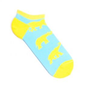 Цветные мужские носки со слонами короткие MK2
