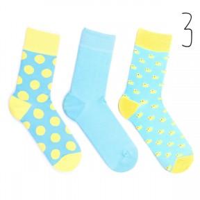 Набор цветных носков Babusha 3 пары G3-3