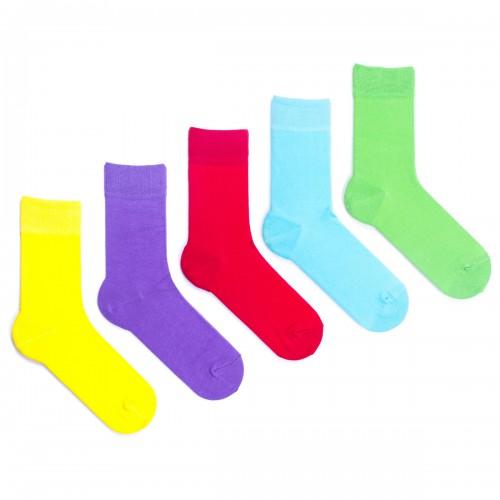 Цветные женские носки Babushka Радуга. 5 пар. GP4