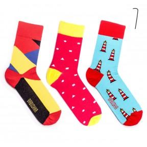Набор цветных носков Babushka 3 пары M3-7