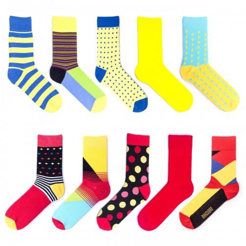 Цветные мужские носки Babushka. 10 пар. MP10-4
