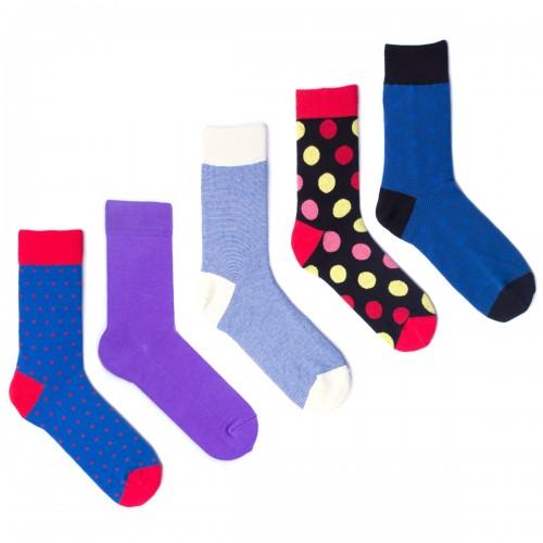 5 пар ярких мужских носков Babushka MP11