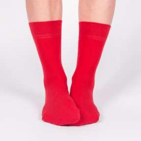 Однотонные красные носки G18