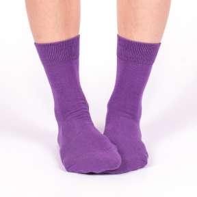 Однотонные фиолетовые носки G19