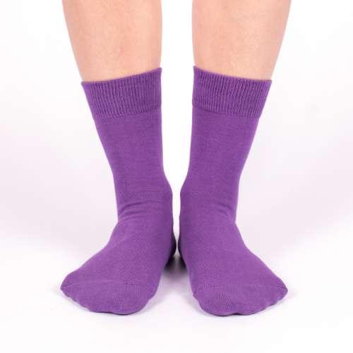 Женские фиолетовые носки