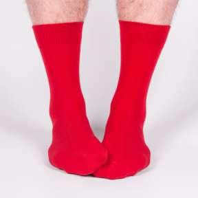 Красные мужские носки M18