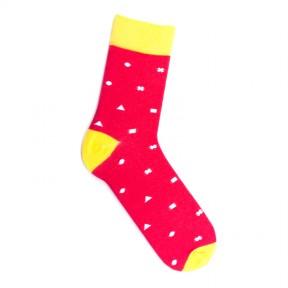 """Красные носки с орнаментом """"Йошкар-Ола"""" M14"""