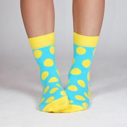 Яркие женские носки с кругами Babushka