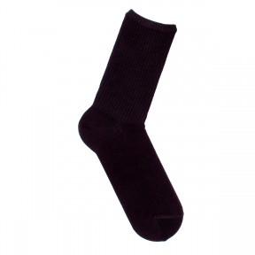 Носки со спортивной резинкой черные однотонные S2