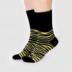 Тёплые носки зебра с высокой резинкой CH1